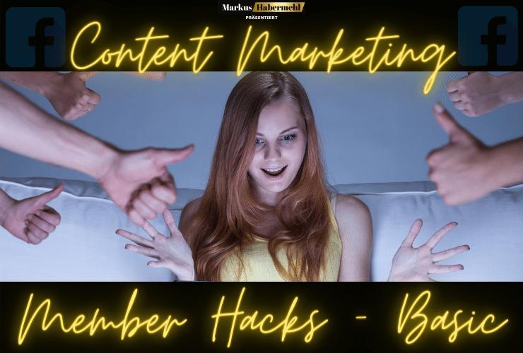 Content Marketing Member Hacks Basic